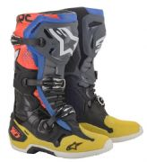 Alpinestars Tech 10  MX Boots Black/Yellow/Blue/Red